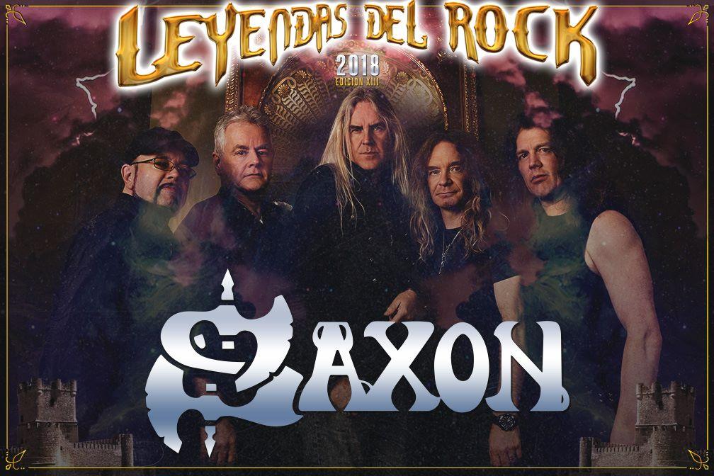 Saxon confirmados para la próxima edición del festival Leyendas del Rock de Villena, Alicante