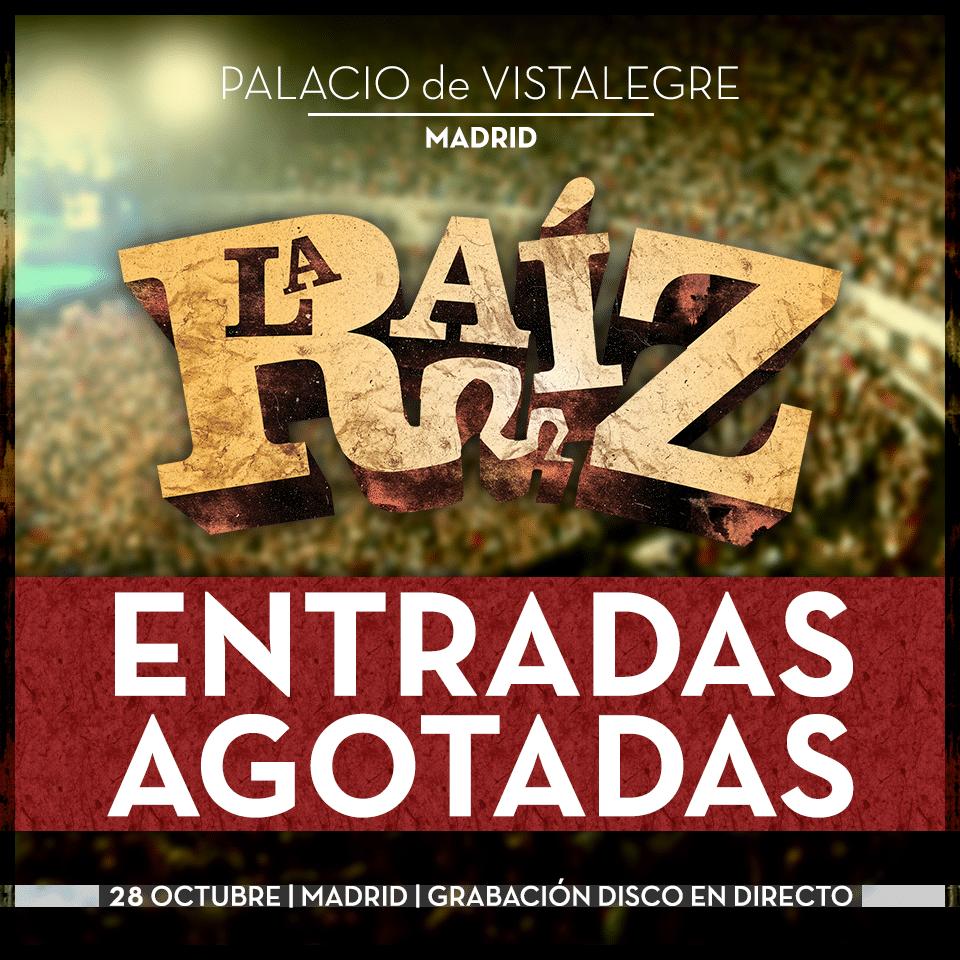 La Raíz estarán actuando este sábado 28 de octubre ante más de 10.000 almas en Madrid