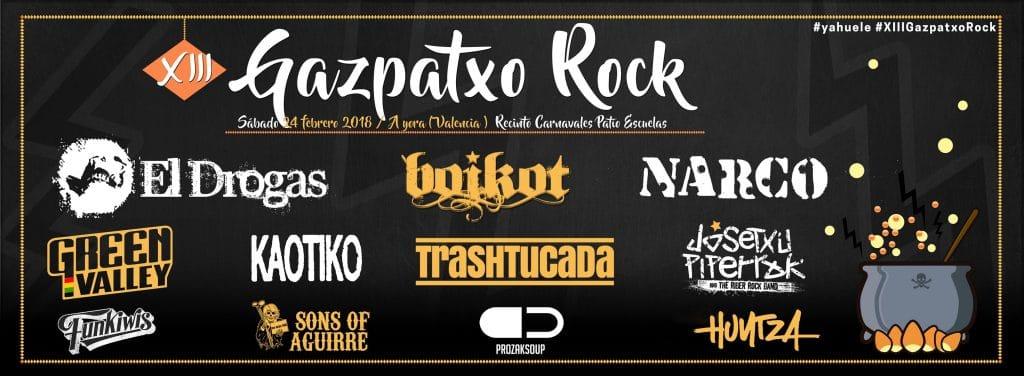 BOIKOT completan el cartel de la XIII edición del festival GAZPATXO ROCK 2018