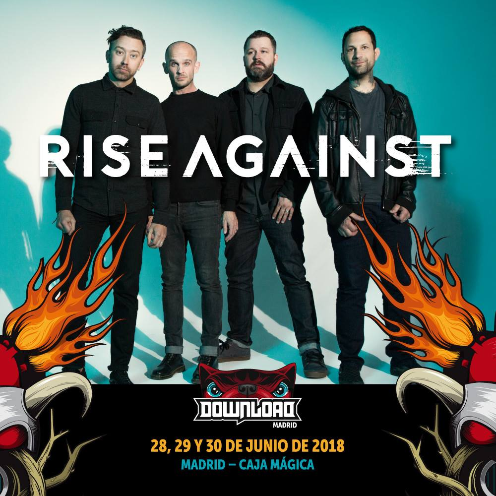 Rise Against confirmados para Download Festival Madrid 2018