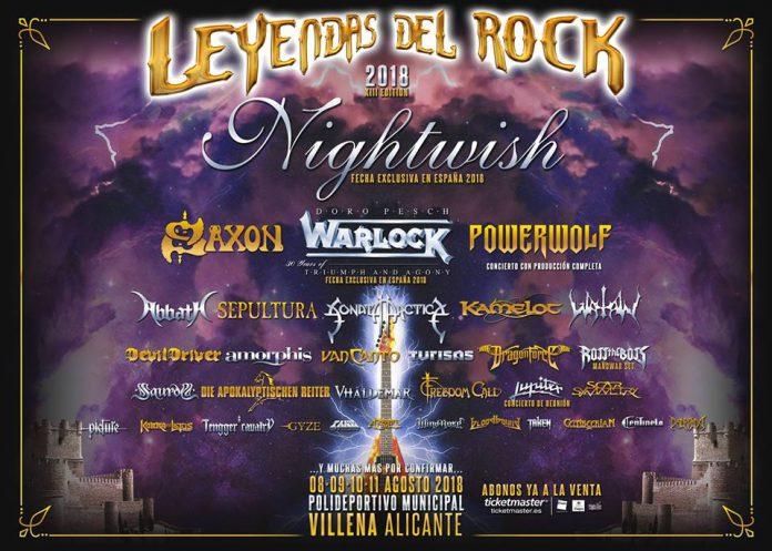 Nueve bandas se suman al cartel del festival Leyendas del Rock 2018 de Villena, Alicante