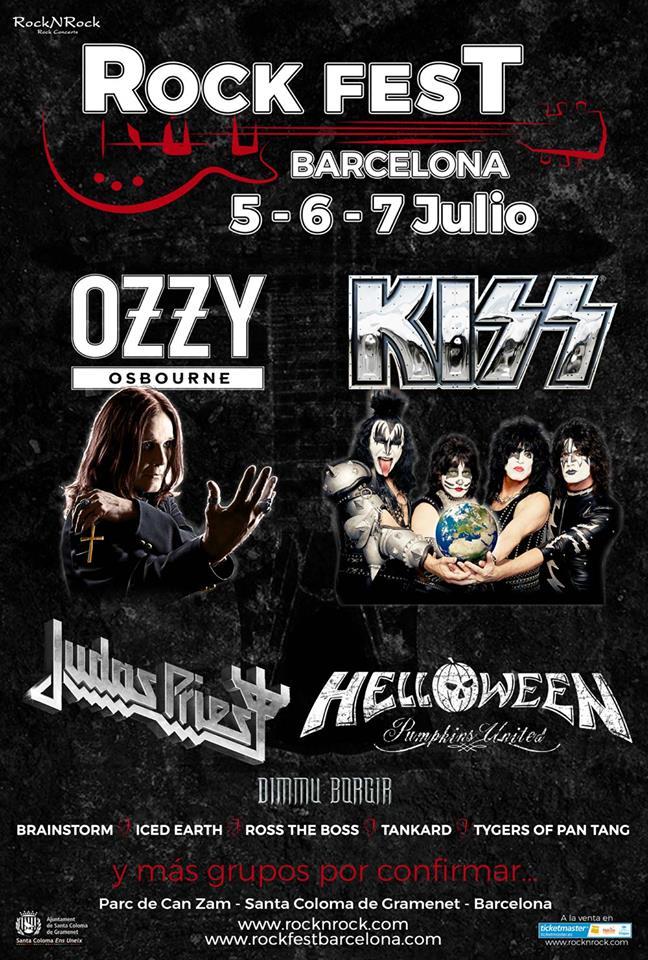 Kiss y Ozzy Osbourne confirmados para el Rock Fest Barcelona 2018