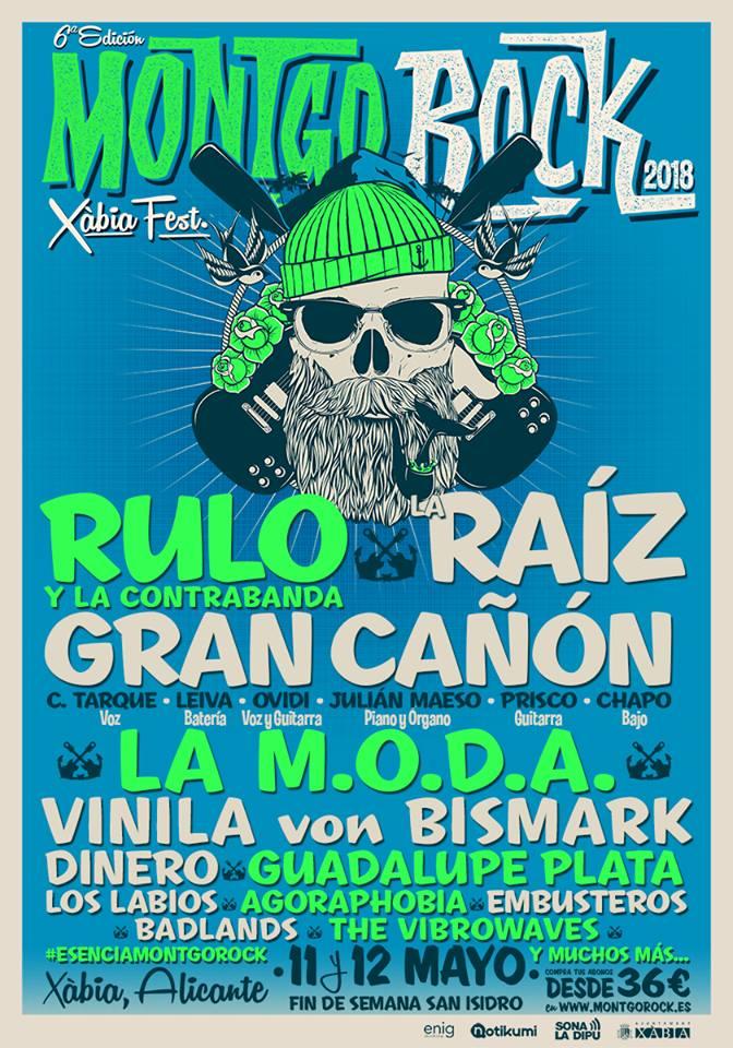 Rulo, La Raíz y La M.O.D.A. entre las primeras confirmaciones para el Montgo Rock Festival de Xàbia, Alicante