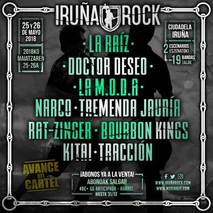 La Raíz, Doctor Deseo y La M.O.D.A. entre las primeras confirmaciones para el Iruña Rock 2018