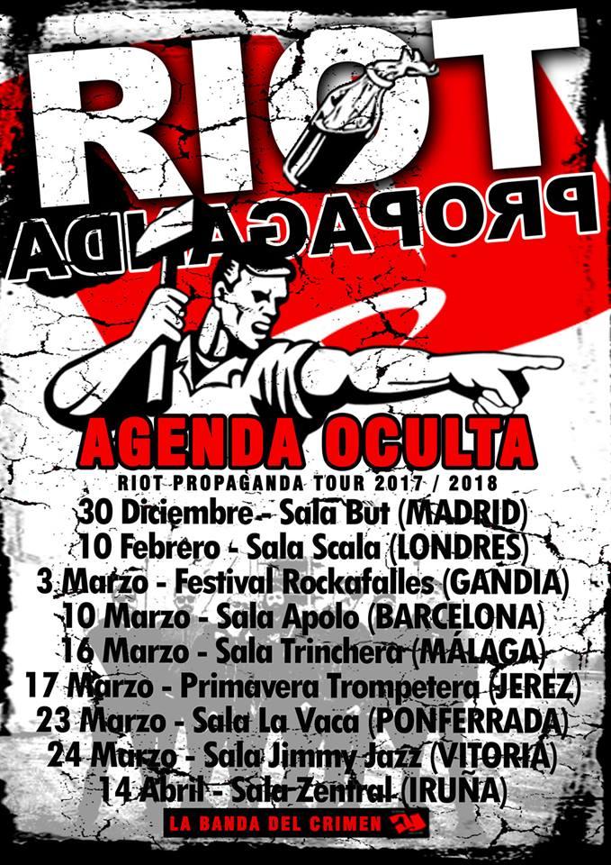 """RIOT PROPAGANDA agota las entradas para su concierto en Madrid presentando """"Agenda Oculta"""""""