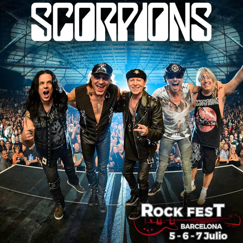 Scorpions, quinto y último cabeza de cartel para el Rock Fest Barcelona 2018