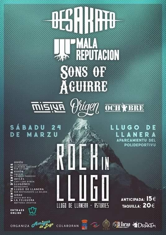 Festival Rock In Llugo 2018 - Grupos, cartel, entradas y horarios