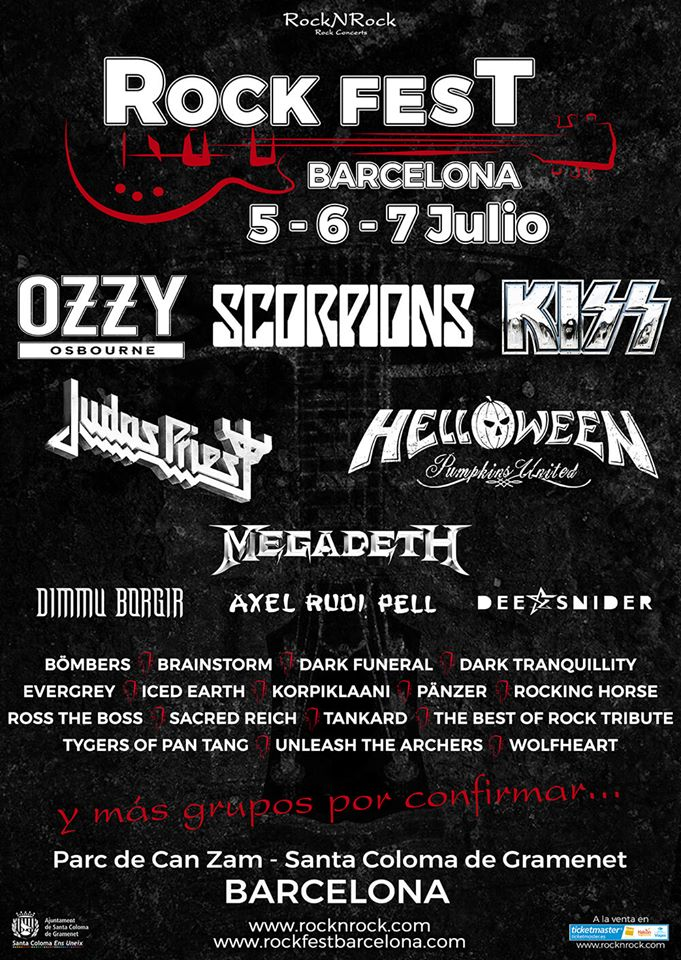 Distribución por días y entradas de día ya a la venta para el Rock Fest Barcelona 2018