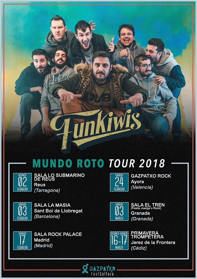 """Funkiwis anuncian las primeras fechas en 2018 de su gira """"Mundo Roto"""""""