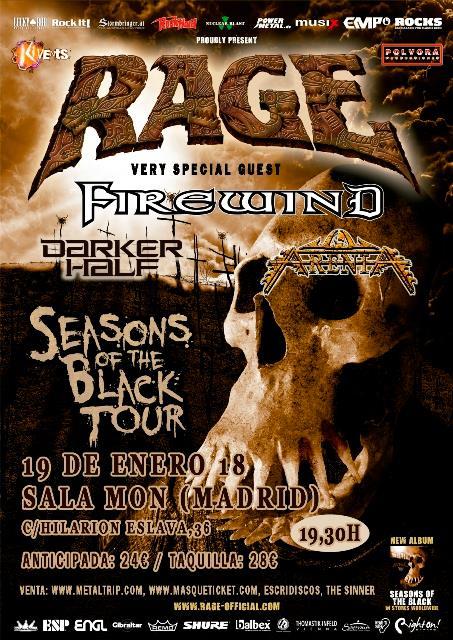 Los alemanes Rage visitarán Madrid el viernes 19 de enero