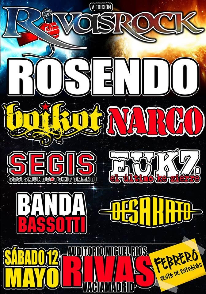 Cartel completo del festival Rivas Rock 2018 de Rivas Vaciamadrid
