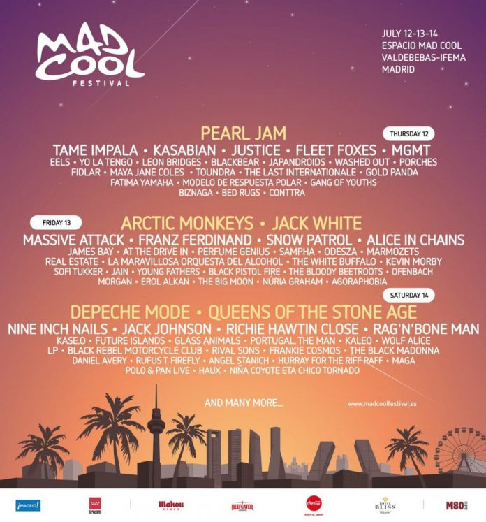 MAD COOL FESTIVAL 2018: ARCTIC MONKEYS y JACK WHITE confirmados