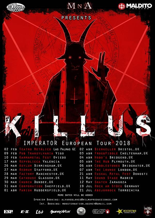 Killus: fechas de la gira presentación de Imperator y nuevo single