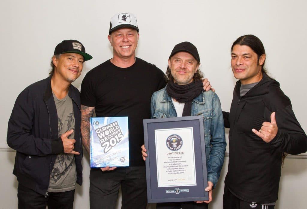 Concierto único e irrepetible de Metallica en La Antártida