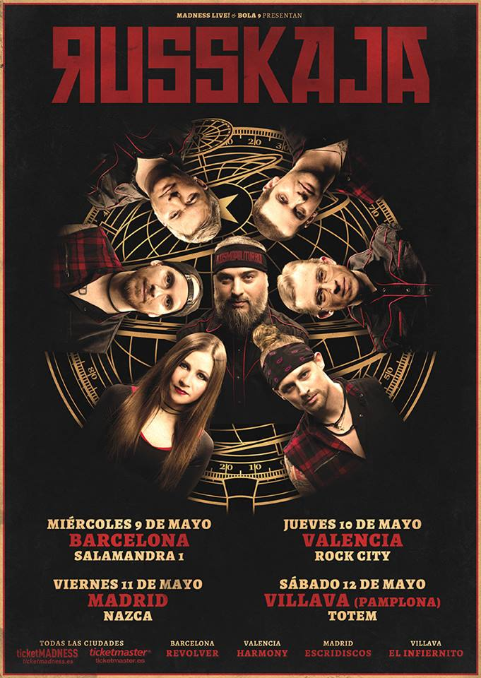 Todos los conciertos de Russkaja en España en 2018