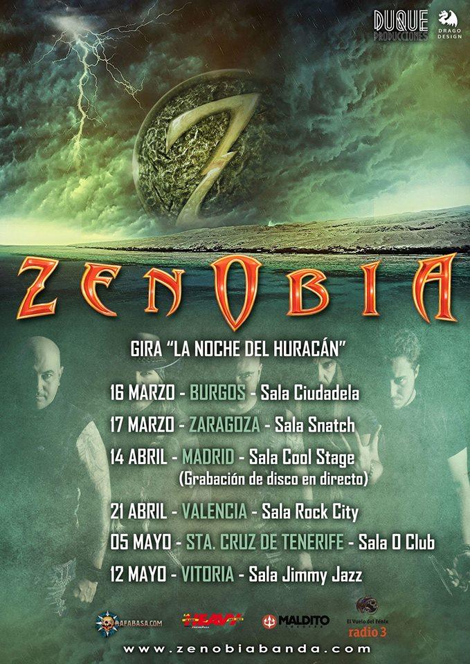 ZENOBIA: grabación de un disco en directo y próximos conciertos