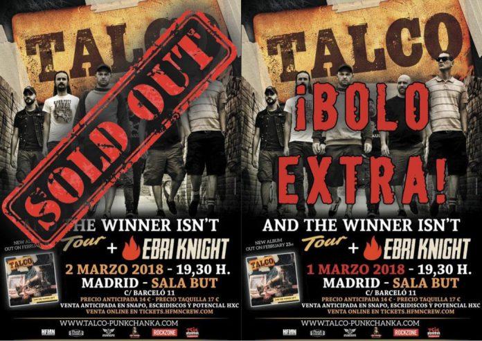 TALCO anuncian una segunda fecha en MADRID después de agotar la primera
