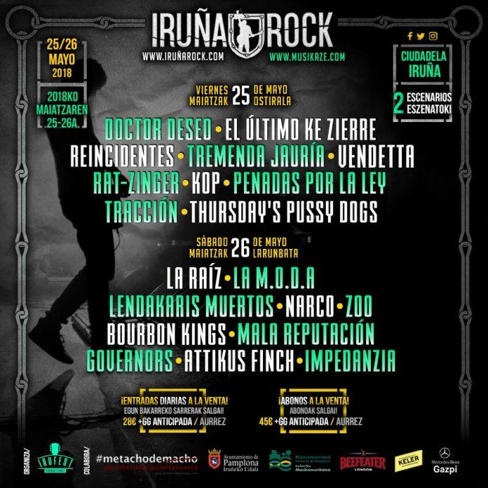 Iruña Rock 2018 | Cartel, grupos, entradas y horarios