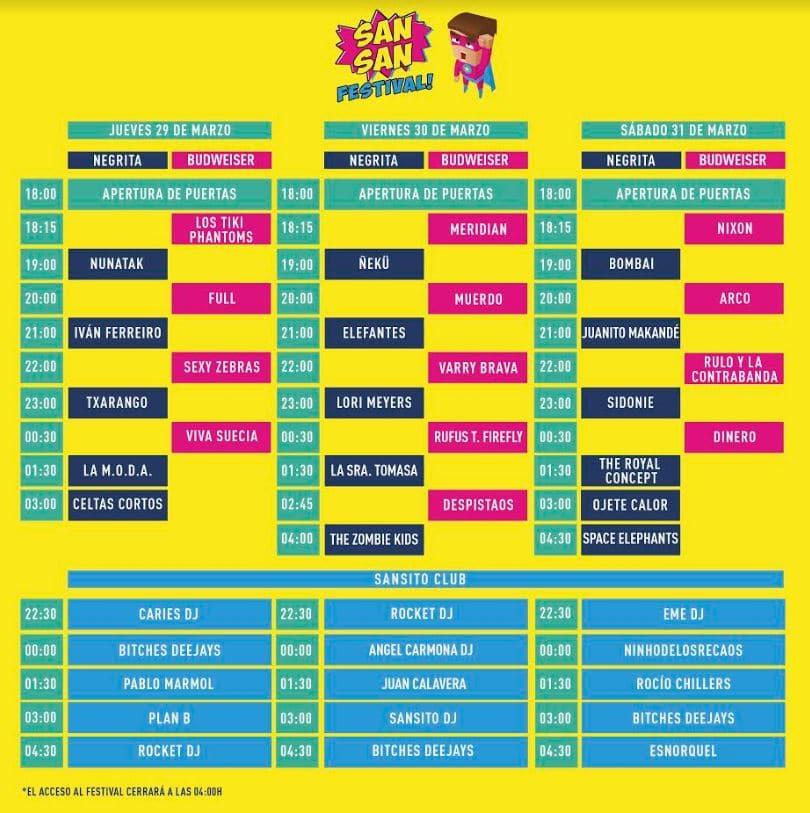 Sansan Festival 2018 | Cartel, grupos, entradas y horarios