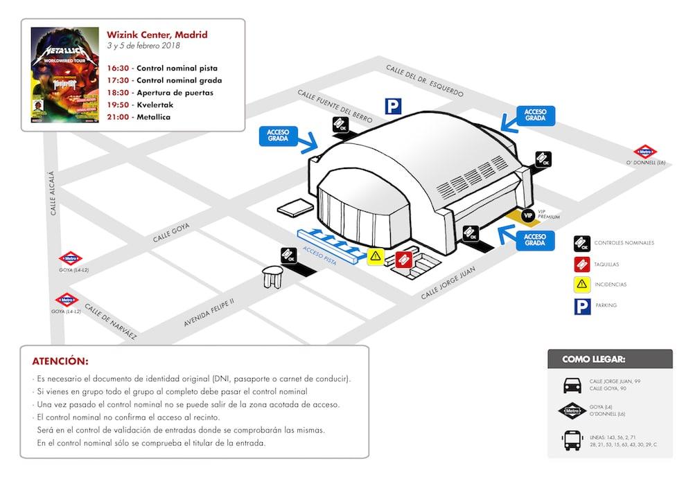 METALLICA en MADRID 2018: horarios, accesos al recinto y objetos prohibidos