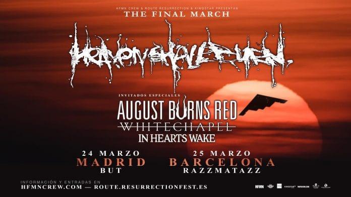Heaven Shall Burn en Madrid y Barcelona - Entradas y horarios