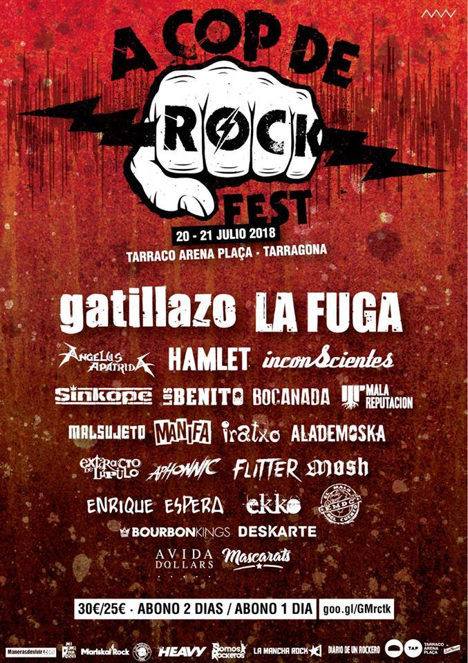 A Cop De Rock Festival 2018 - Cartel completo y comprar entradas