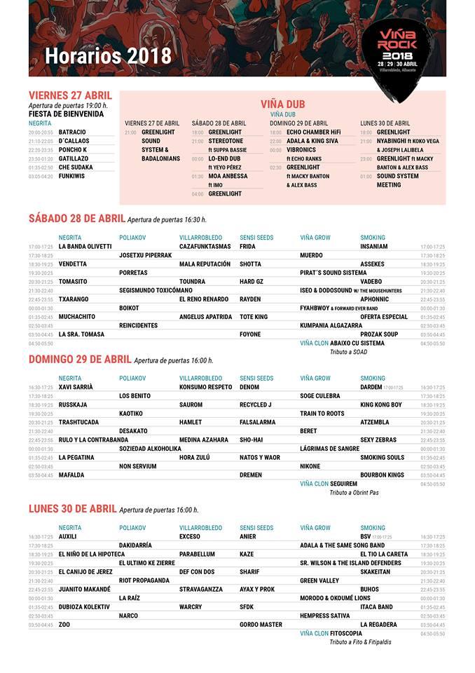 Viña Rock 2018 |Cartel, grupos, entradas, abonos, horarios y localización