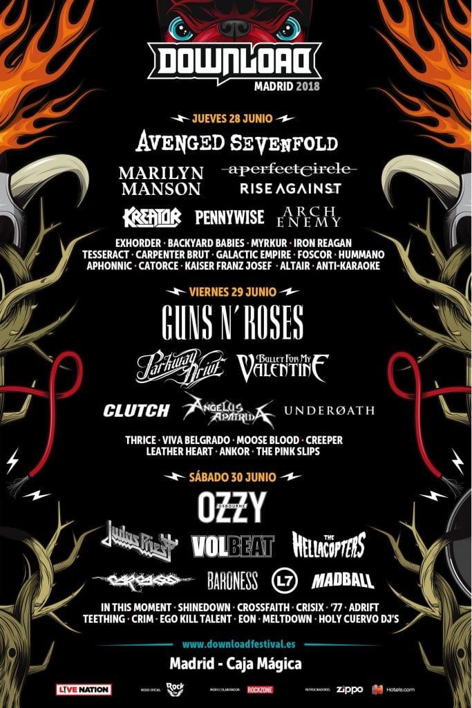 Download Festival Madrid 2018 – Cartel, entradas, precio y horarios