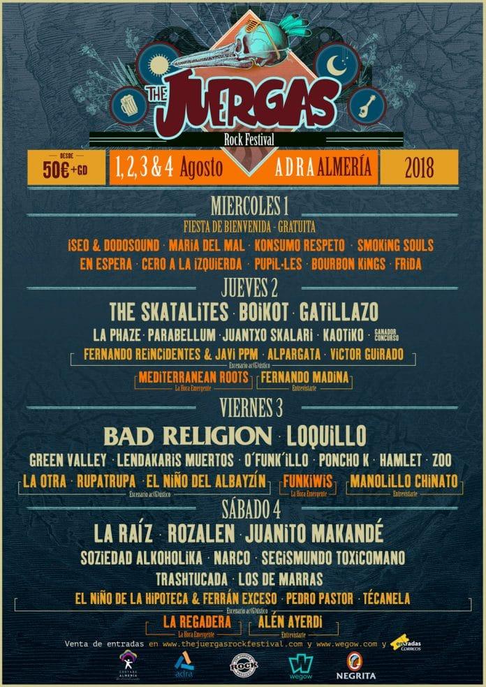 Juergas Rock Festival 2018 | Cartel, entradas, precios y horarios