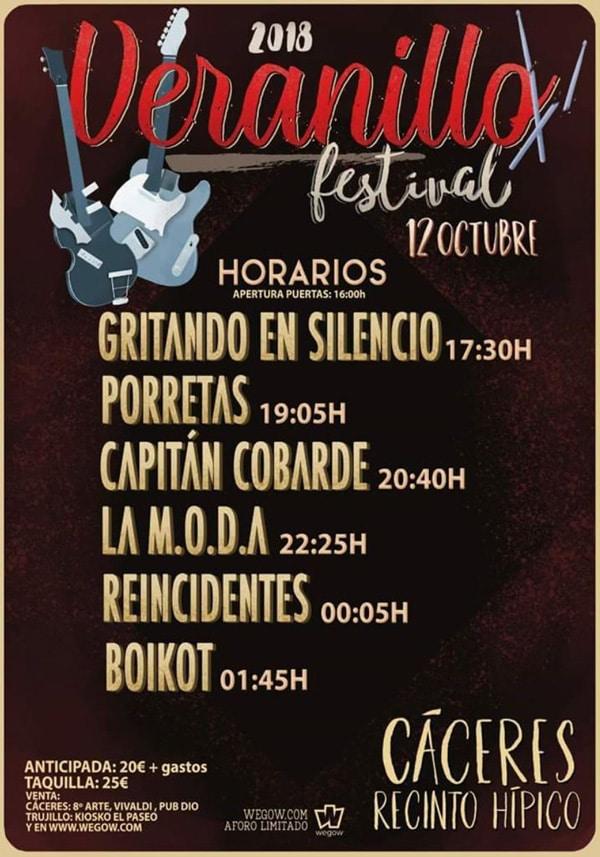 Veranillo Festival 2018 | Cartel, grupos, entradas, abonos, horarios y más