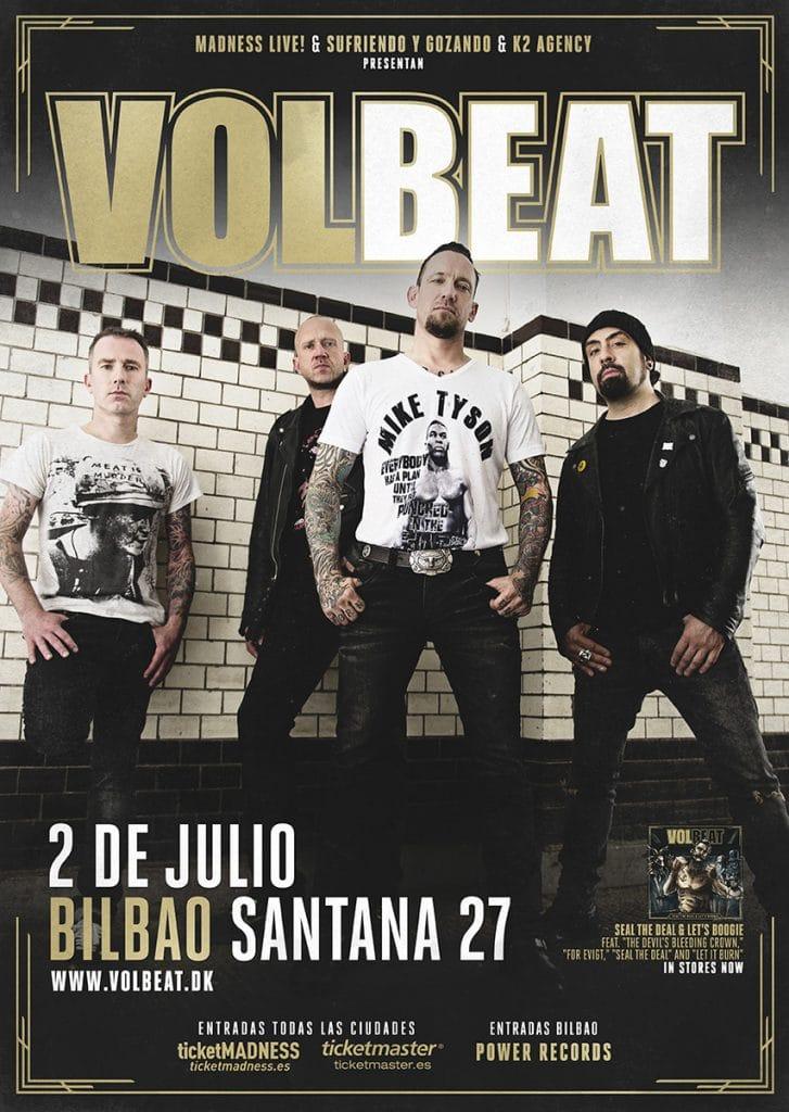 Concierto de Volbeat en Bilbao en 2018 – Fecha, precios y comprar entradas
