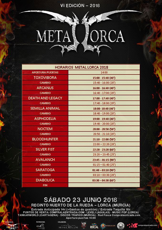 Metal Lorca 2018 |Cartel, grupos, entradas, abonos, horarios y localización
