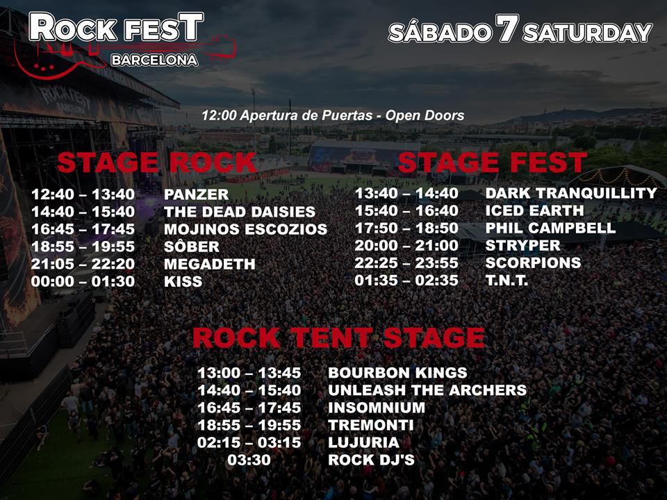 Rock Fest Barcelona 2018 | Cartel, grupos, entradas, abonos, horarios y más