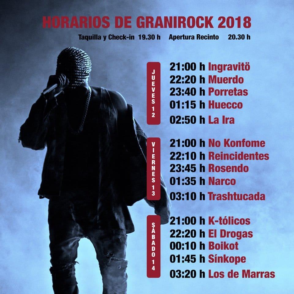 Granirock 2018 |Cartel, grupos, entradas, abonos, horarios y más