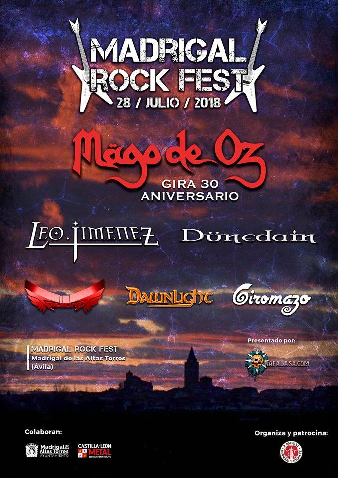 Madrigal Rock Fest 2018 | Cartel, grupos, entradas, abonos, horarios y más
