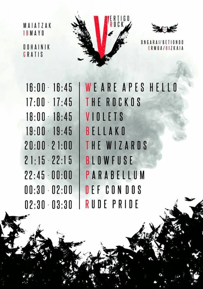 Vértigo Rock 2018  Cartel, grupos, entradas, abonos, horarios y más