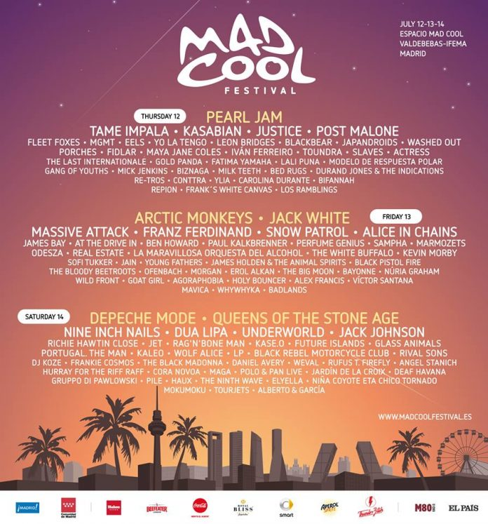 Mad Cool Festival 2018   Cartel, grupos, entradas, abonos, horarios y más