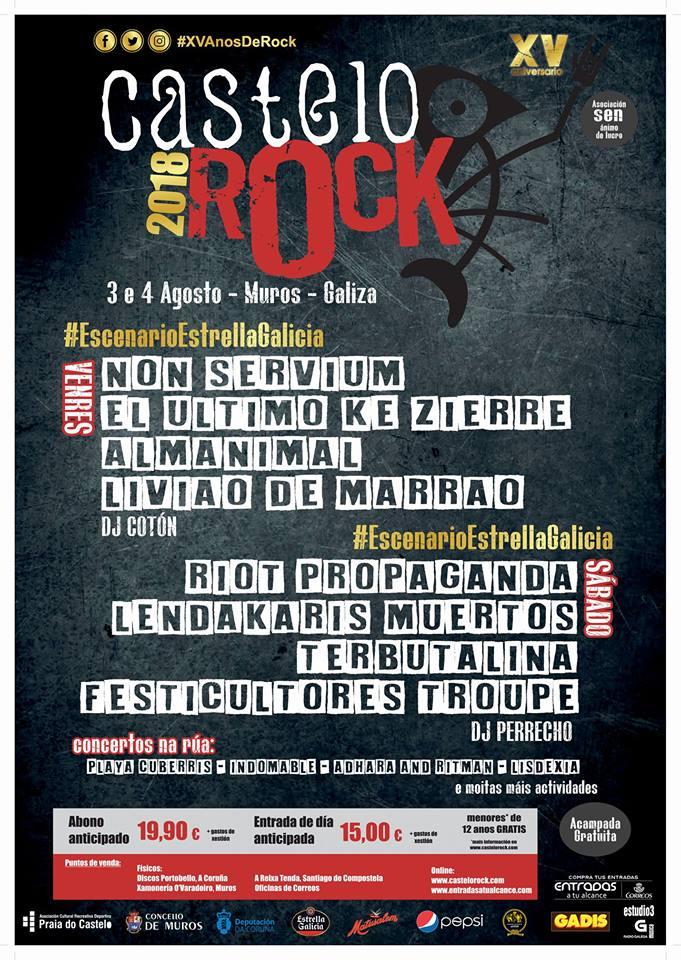 Festival Castelo Rock 2018 |Cartel, grupos, entradas, abonos, horarios y más