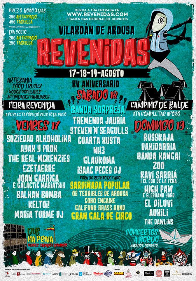 Festival Revenidas 2018 | Cartel, grupos, entradas, abonos, horarios y más