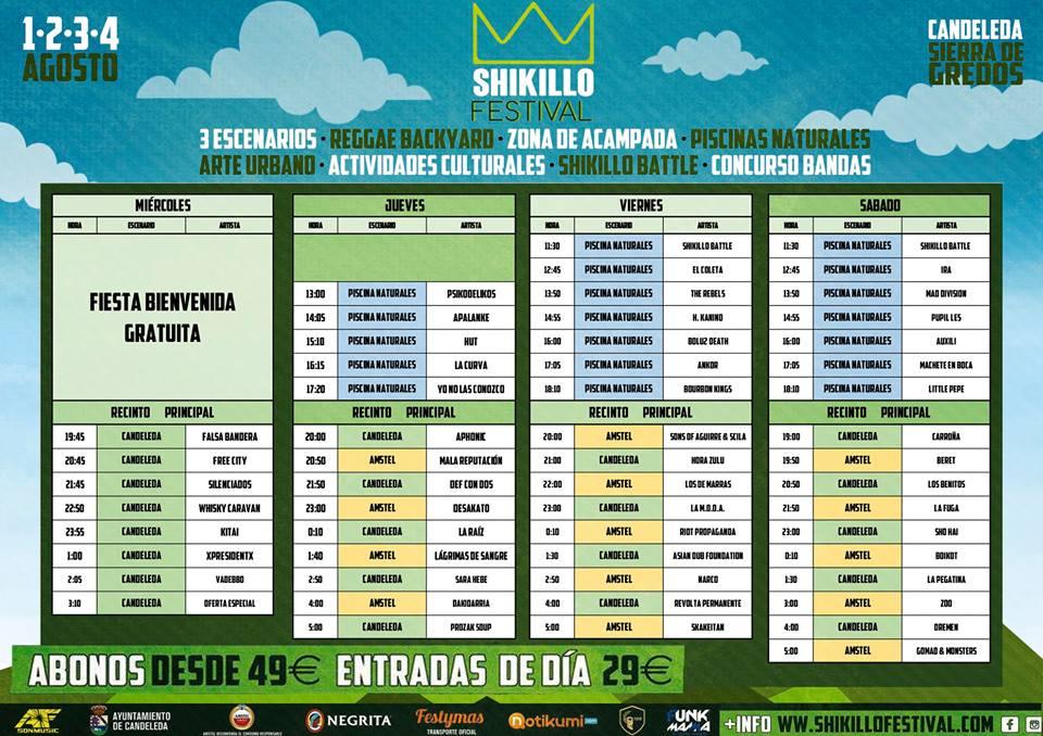 Shikillo Festival 2018 | Cartel, grupos, entradas, abonos, horarios y más