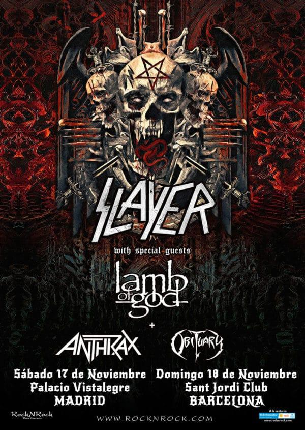 Slayer visitarán Madrid y Barcelona en su gira de despedida a finales de 2018