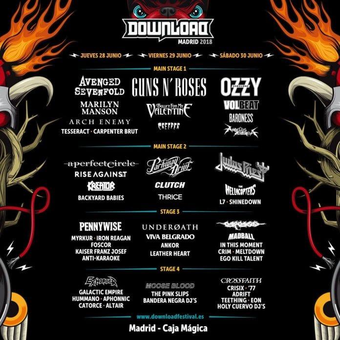 Ya está aquí el Download Festival Madrid 2018