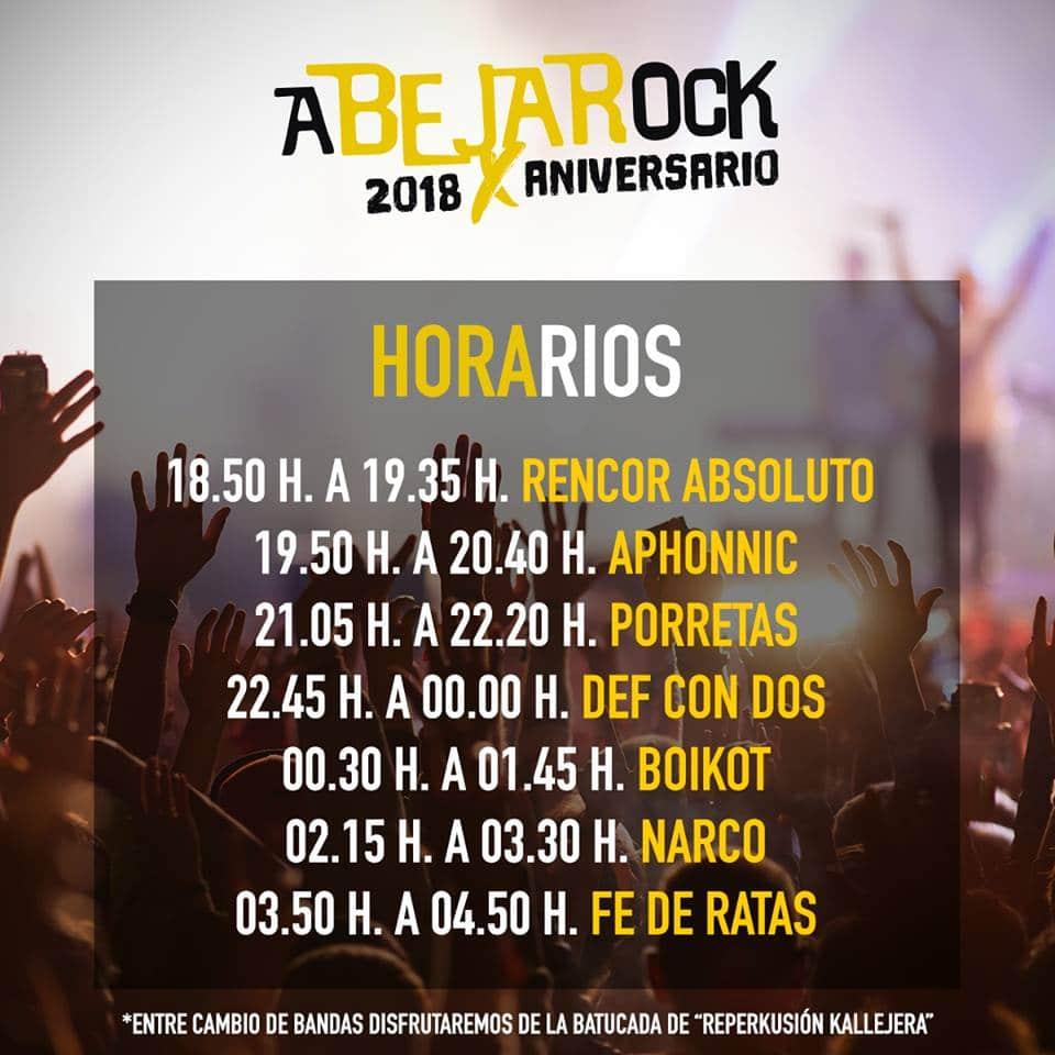 Festival Abejarock 2018 |Cartel, grupos, entradas, abonos, horarios y más