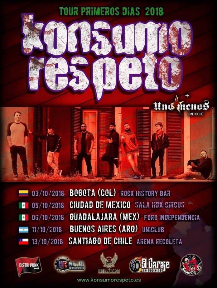 Konsumo Respeto visitarán Latinoamérica durante su gira Primeros Días 2018