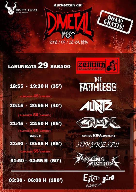 Dimetal Fest 2018 | Cartel, grupos, entradas, abonos, horarios y más