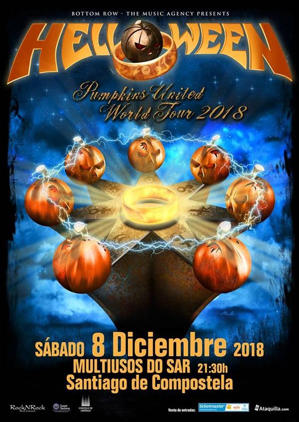 Helloween en Santiago de Compostela el 8 de diciembre de 2018