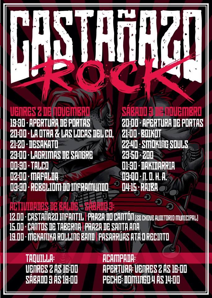 Castañazo Rock 2018 | Cartel, grupos, entradas, abonos, horarios y más