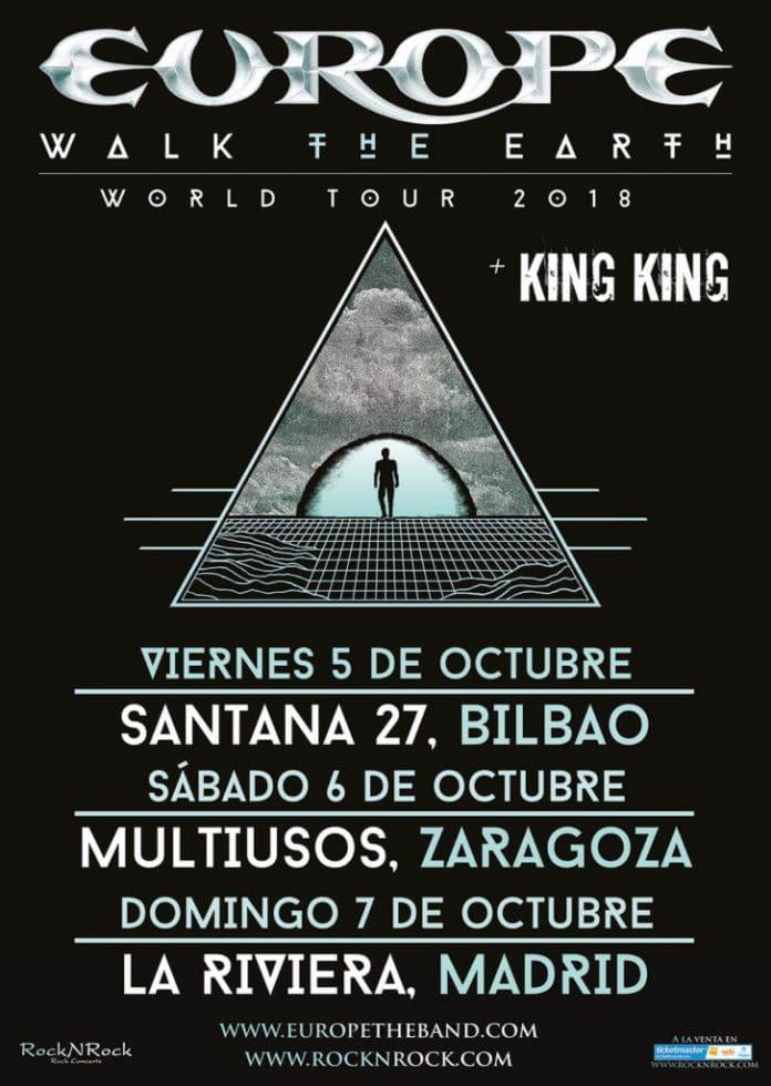 Europe en Madrid, Bilbao y Zaragoza en Octubre de 2018