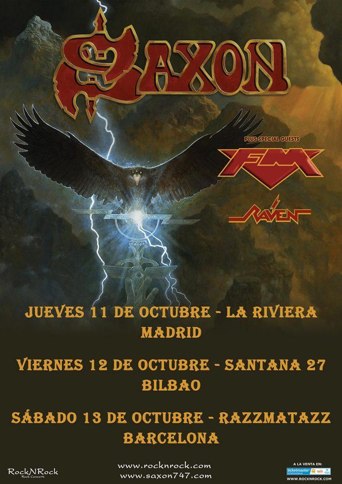 Saxon en Madrid, Bilbao y Barcelona en octubre de 2018