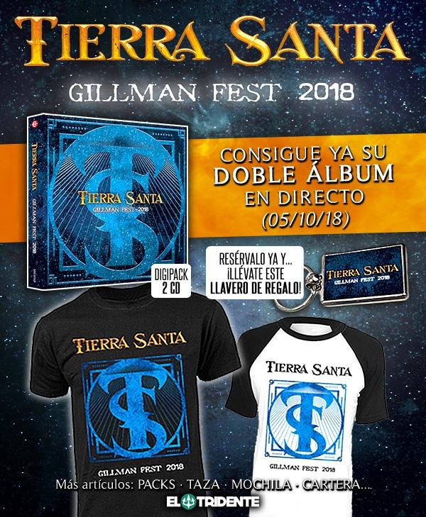 Tierra Santa revelan portada y adelanto de Gillman Fest 2018, su próximo disco en directo